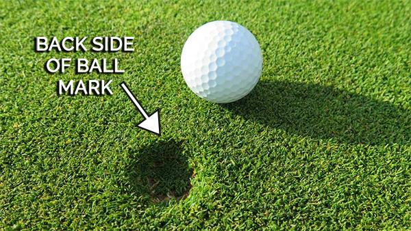 Ball Mark Back Side Golf